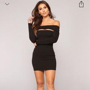Black fashion nova dress size small *NEVER WORN*